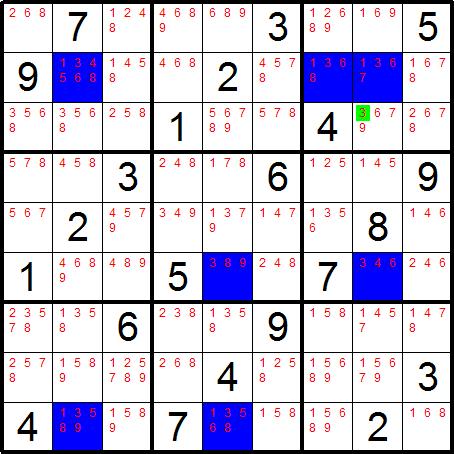 Sudoku Snake - Solving Technique - Finned Swordfish