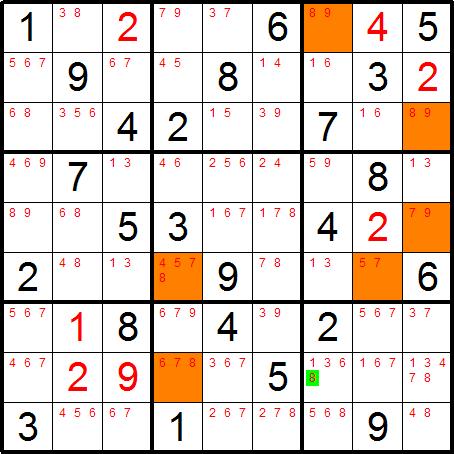 Sudoku Snake - Solving Technique - Hidden XY Chains
