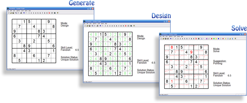 sudoku snake screen shots