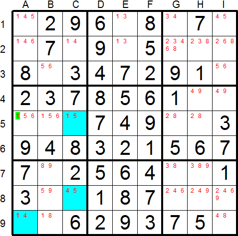 Sudoku Snake - Solving Technique - XY Wings